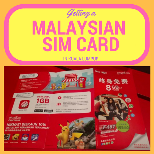 how to get a sim card in kuala lumpur